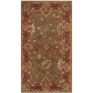 Safavieh Handmade Heritage Timeless Traditional Moss/ Rust Wool Rug (2'3 x 4')
