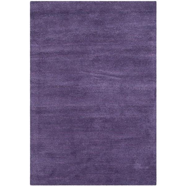 Safavieh Handmade Himalaya Solid Purple Wool Rug (2' x 3')