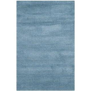 Safavieh Handmade Himalaya Blue Wool Rug (2' x 3')