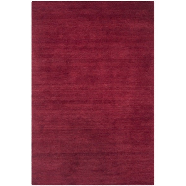 Safavieh Handmade Himalaya Solid Red Wool Rug - 2' x 3'