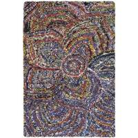 Safavieh Handmade Nantucket Abstract Floral Multicolored Cotton Rug - multi - 2' X 3'