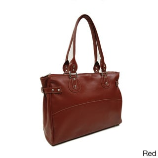 Piel Leather Large Ladies Side Strap Business Tote