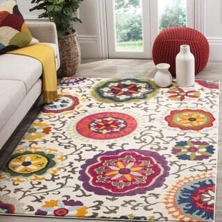 Safavieh Monaco Floral Ivory / Multicolored Rug (6'7 Square)