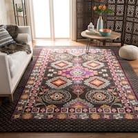 Safavieh Monaco Bohemian Brown/ Multicolored Rug - 6'7 Square
