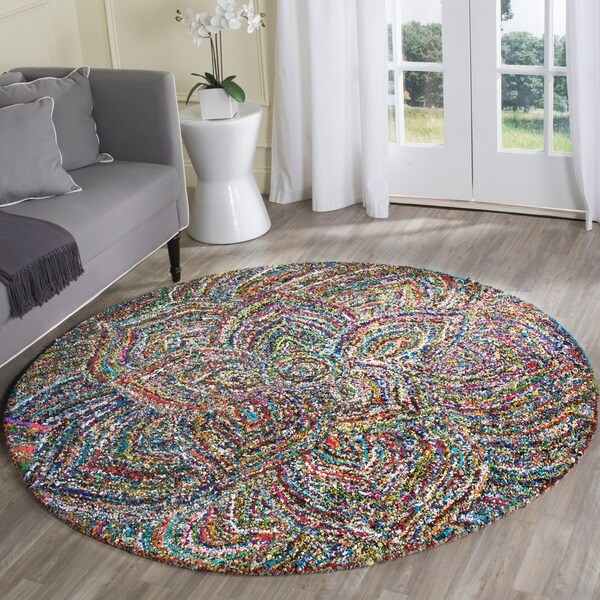 Safavieh Hand Tufted Nantucket Multi Cotton Rug 4 Round