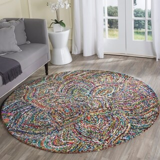 Safavieh Hand-Tufted Nantucket Multi Cotton Rug (6' Round)