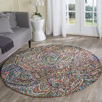 Safavieh Hand-Tufted Nantucket Multi Cotton Rug - 6' Round