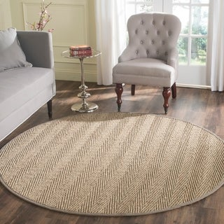 Safavieh Casual Natural Fiber Natural / Grey Seagrass Area Rug (6' Round)
