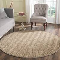 Safavieh Casual Natural Fiber Natural / Grey Seagrass Area Rug - 6' Round