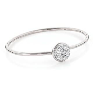 Luxurman 10k Gold 1.10ct TDW Pave Diamond Ball Bangle Bracelet ( G-H, VS-SI )