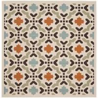 Safavieh Indoor/ Outdoor Veranda Cream/ Terracotta Rug (6'7 Square)