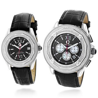 Centorvm His And Hers Falcon Matching 1.05ct TDW Diamond Watch Set