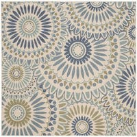 Safavieh Indoor/ Outdoor Veranda Cream/ Green Rug - 6'7 Square