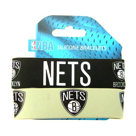 NBA Brooklyn Nets Rubber Wrist Bands (Set of 2)