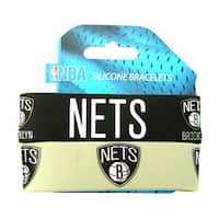 NBA Brooklyn Nets Rubber Wrist Bands (Set of 2)