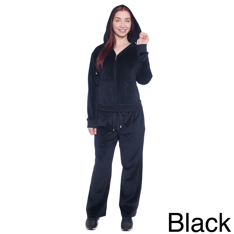 Royal Women's Plus Size Double-layer Hood Velour Set (1X,...