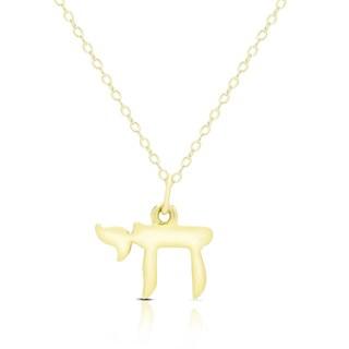 "Dolce Giavonna 14K Gold ""Chai"" Design Necklace"