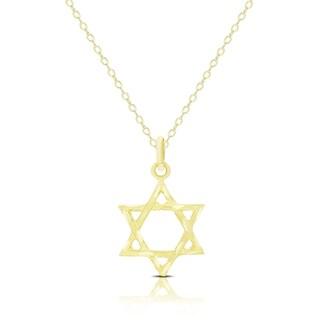 Dolce Giavonna 14K Gold Star of David Necklace
