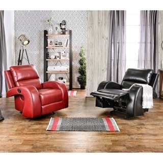 Furniture of America Wellston Contemporary Leatherette Recliner