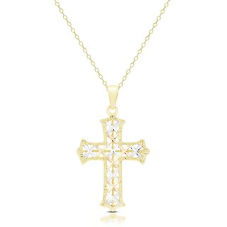 Dolce Giavonna 14K Gold Cross Necklace