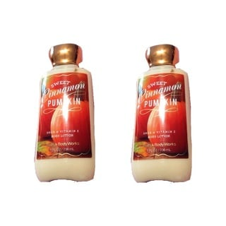Bath and Body Works 8-ounce Shea and Vitamin E Body Lotion Sweet Cinnamon Pumpkin (Pack of 2)