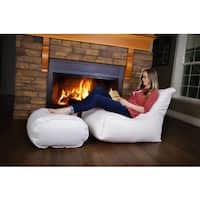Zen Bean Bag Chair and Ottoman Set