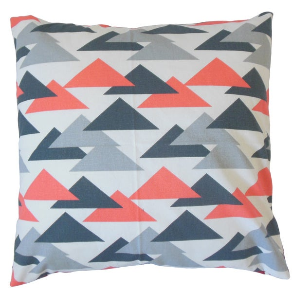 Wyome Geometric Feather and Down Filled 18-inch Throw Pillow