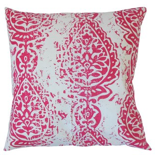Yordana Ikat Feather and Down Filled 18-inch Throw Pillow