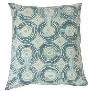 Alphege Geometric Feather and Down Filled 18-inch Throw Pillow
