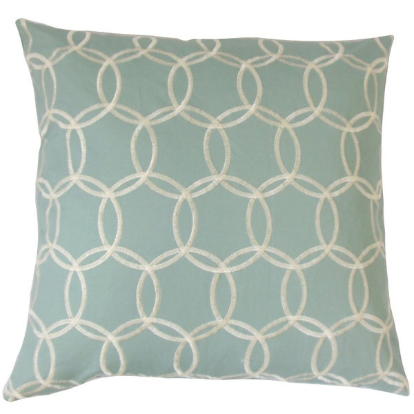 Capucine Geometric Feather and Down Filled 18-inch Throw Pillow