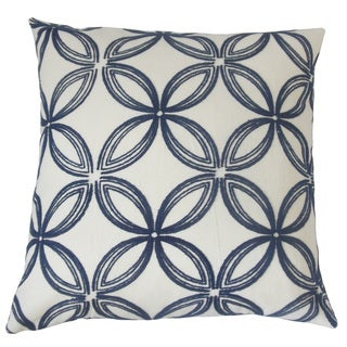 Eirlys Geometric Feather and Down Filled 18-inch Throw Pillow