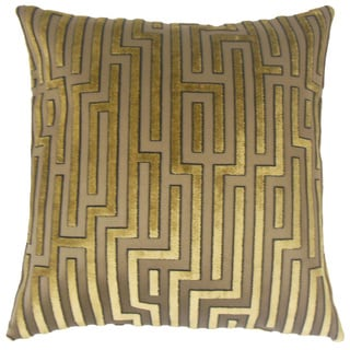 Gwenael Solid Feather and Down Filled 18-inch Throw Pillow