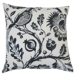Indivar Floral Feather and Down Filled 18-inch Throw Pillow