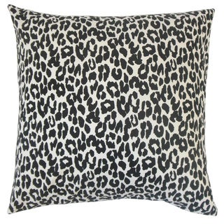 Olesia Animal Print Feather and Down Filled 18-inch Throw Pillow