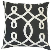 Precia Geometric Feather and Down Filled 18-inch Throw Pillow