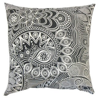 Qacha Geometric Feather and Down Filled 18-inch Throw Pillow