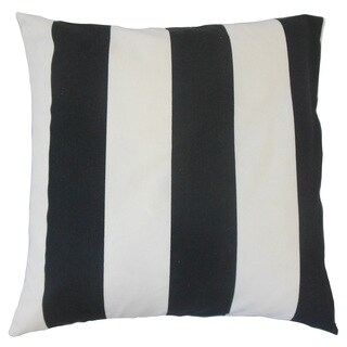 Roosje Stripes Feather and Down Filled 18-inch Throw Pillow