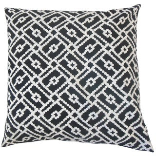 Sileny Geometric Feather and Down Filled 18-inch Throw Pillow