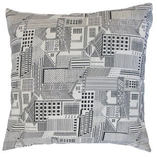 Xakery Geometric Feather and Down Filled 18-inch Throw Pillow
