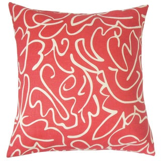 Ailill Graphic Feather and Down Filled 18-inch Throw Pillow