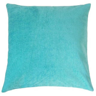 Elior Solid Feather and Down Filled 18-inch Throw Pillow