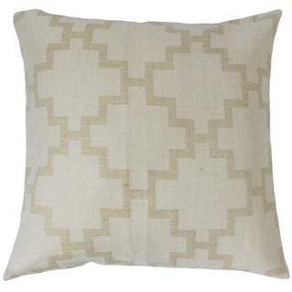 Hollace Geometric Feather and Down Filled 18-inch Throw Pillow