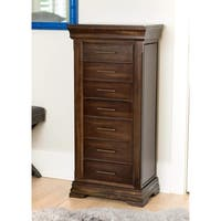 "Hives & Honey Haley Walnut Jewelry Armoire - 20""w x 13""d x 42""h"