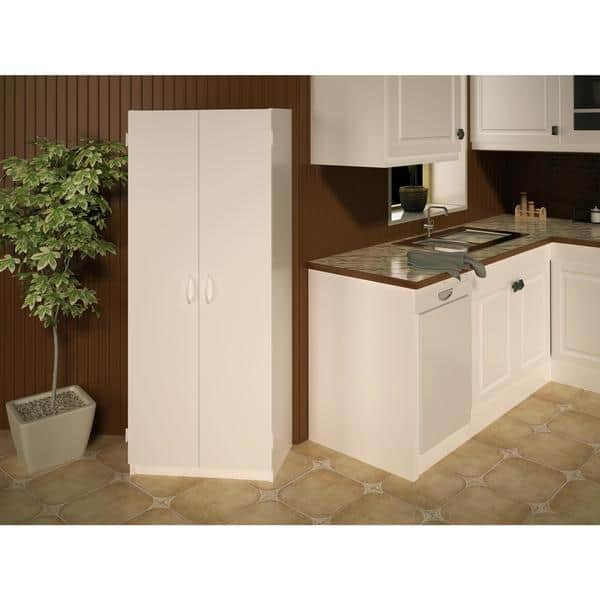 Shop Ameriwood Home Flynn 24-inch Kitchen Pantry Double-door ...