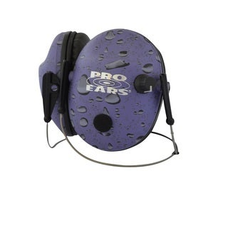 Pro Ears Pro 200 Behind The Head Headband Electronic Hearing Protection & Amplification Purple Rain Low Profile Cup Earphones