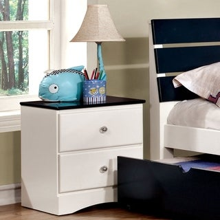 Furniture of America Piers Two-tone Blue/White 2-drawer Youth Nightstand