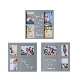 Melannco Grey Sentiment Collages (Set of 3)