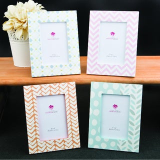 Delicate Pastel Shaded 4 x 6 Picture Frames (Set of 4)