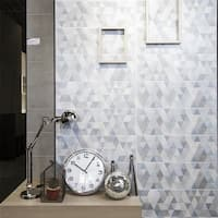 SomerTile 7.75x23.5-inch Genetic Blue Ceramic Wall Tile (9 tiles/11.62 sqft.)