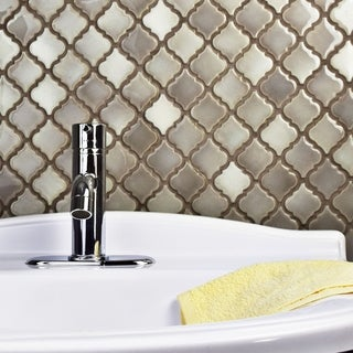 SomerTile 12.375x12.5-inch Antaeus Dove Porcelain Mosaic Floor and Wall Tile (Case of 10)